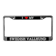 Love Swedish Vallhund License Plate Frame