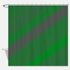 Green Stripe Shower Curtain