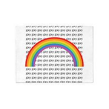 Gay Rainbow! 5'x7'Area Rug
