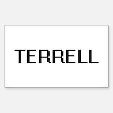 Terrell digital retro design Decal