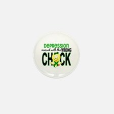 Depression MessedWithWrongCh Mini Button (10 pack)