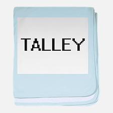 Talley digital retro design baby blanket