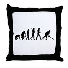 Field Hockey Evolution Throw Pillow