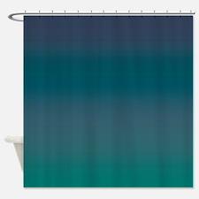 Blue Green Grayson Shower Curtain