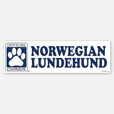 NORWEGIAN LUNDEHUND Bumper Bumper Bumper Sticker