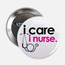 i care i nurse pink Button