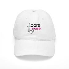 i care i nurse pink Baseball Cap