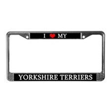 Love Yorkshire Terriers License Plate Frame