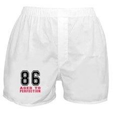 86 Aged To Perfection Birthday Design Boxer Shorts