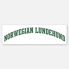 Norwegian Lundehund (green) Bumper Bumper Bumper Sticker