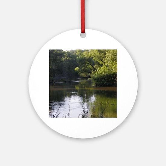 Cute River Round Ornament