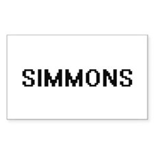 Simmons digital retro design Decal