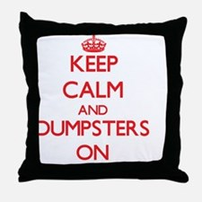 Dumpsters Throw Pillow