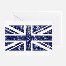 """Navy Union Jack"" Greeting Card"