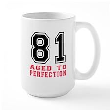 81 Aged To Perfection Birthday Designs Mug
