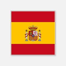 "Spain Flag Square Sticker 3"" x 3"""