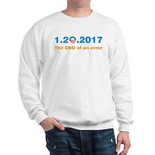 Anti Obama The end of an error Sweatshirt