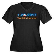 Anti Obama The end of an error Plus Size T-Shirt