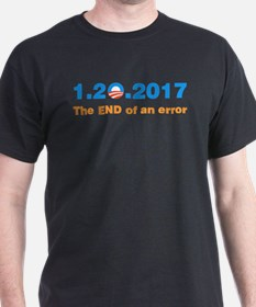 Anti Obama The end of an error T-Shirt