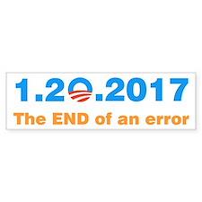 Anti Obama The end of an error Bumper Car Car Sticker