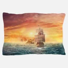 Pirate ship Pillow Case