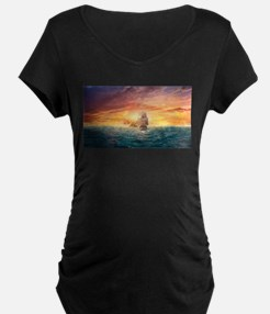 Pirate ship Maternity T-Shirt