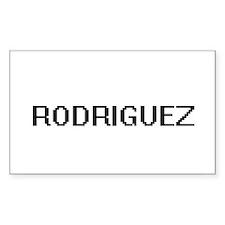 Rodriguez digital retro design Decal