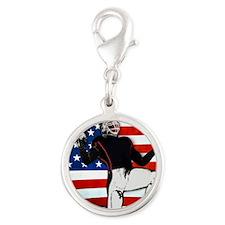 American Football Player Charms