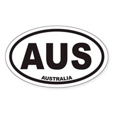 Australia AUS Oval Car Stickers