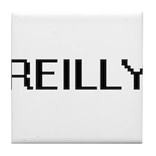 Reilly digital retro design Tile Coaster