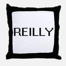 Reilly digital retro design Throw Pillow