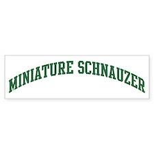 Miniature Schnauzer (green) Bumper Bumper Sticker