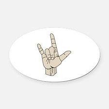 Sign Language Oval Car Magnet