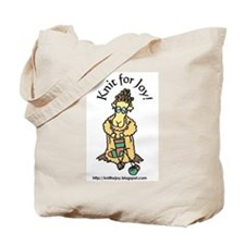 Knit for Joy Tote Bag