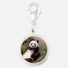 Panda 0315P Silver Round Charm