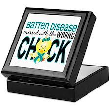 Batten Disease MessedWithWrongChick1 Keepsake Box