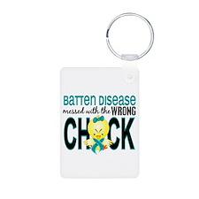 Batten Disease MessedWithW Aluminum Photo Keychain