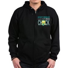 Anxiety Disorder MessedWithWrong Zip Hoodie