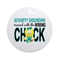 Anxiety Disorder MessedWithWrongC Ornament (Round)