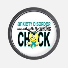 Anxiety Disorder MessedWithWrongChick1 Wall Clock