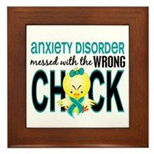Anxiety Disorder MessedWithWrongChick1 Framed Tile