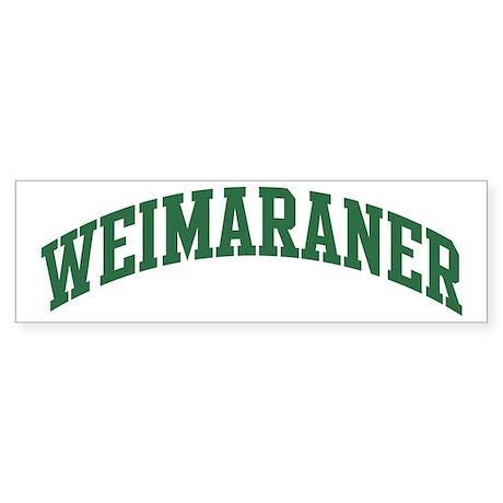 Weimaraner (green) Bumper Sticker