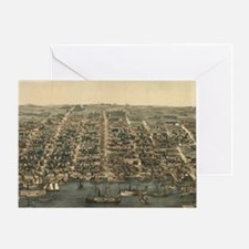 Vintage Pictorial Map of Alexandria  Greeting Card