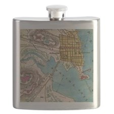 Map of Alexandria VA and Neighbor Cities  Flask