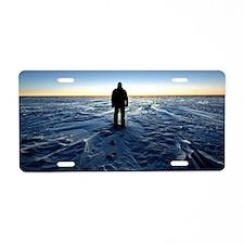 Antarctic Sunset Aluminum License Plate