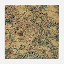 Vintage Antietam Battlefield Map (186 Tile Coaster