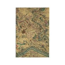 Vintage Antietam Battlefield Map  Rectangle Magnet