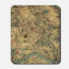 Vintage Antietam Battlefield Map (1862) Mousepad