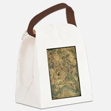 Vintage Antietam Battlefield Map  Canvas Lunch Bag