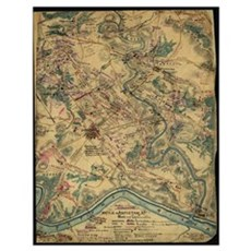 Vintage Antietam Battlefield Map (1862) Poster